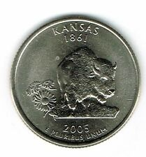 2005-D KANSAS BRILLIANT UNC STATE QUARTER~FREE SHIPPING~WE HAVE EVERY STATE~