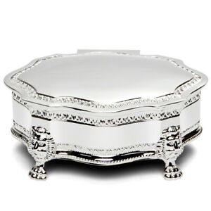 NEW Whitehill Louis Silver Plated Jewellery Box Large