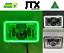"thumbnail 1 - JTX, 1 Pair Chrome LED Headlights, 4x6"", White & Green Halo, Toyota Landcruiser"