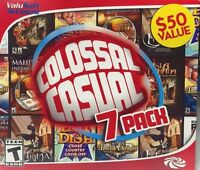 Colossal Casual 7 Pack Pc Games Windows 10 8 7 Xp Computer Games Time Management
