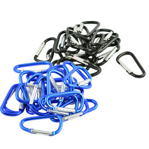 1pc D-shaped With Nut Hanging Buckle Aluminum Alloy Buckle Climbing Carabiner A!