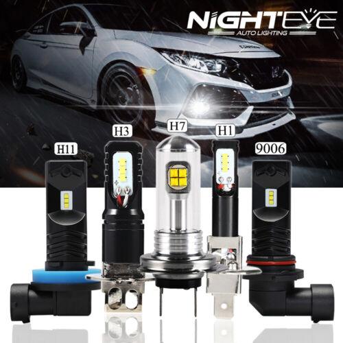NIGHTEYE H1/H11/H3/H7/9006 160W LED Fog Light Car Driving Bulb Lamps DRL White