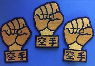 3 Lot Taekwondo Goju Ryu Karate MMA Martial Arts TKD Uniform Gi Patches Cres 468