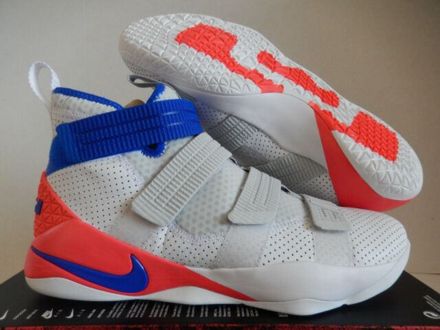 26277c20692 Nike Lebron Soldier XI 11 SFG Size 14 White Racer Blue Infrared Shoe ...