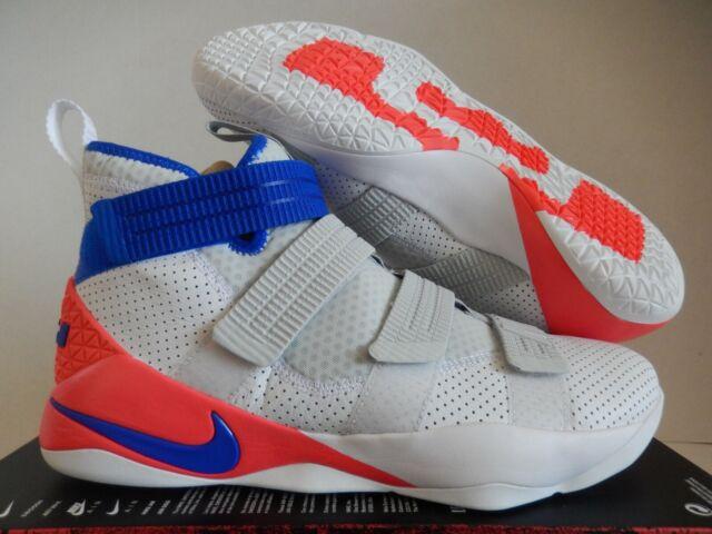 b4279b3c1e9f Nike Lebron Soldier XI SFG Ultramarine 11 Men White Blue 897646-101 ...