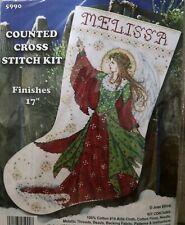 Tobin Design Works Cross Stitch Stocking Kit 17in-Popcorn Elves 14 Count