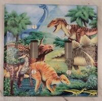 Dinosaur World Double Light Switch Cover-medium-free Shipping