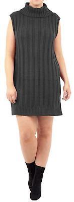 Honig New Women's Plus Size Longline Sleeveless Turtle Neck Knit Pullover Jumper Dress Um Jeden Preis