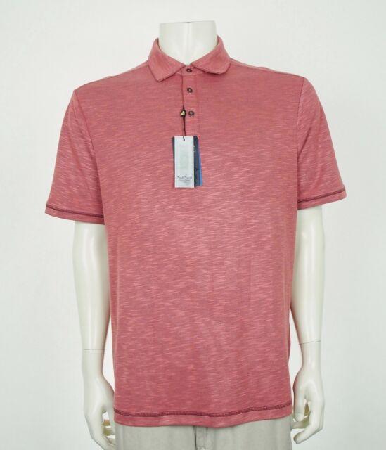New Nat Nast Lightweight Tango Red Casual Polo Shirt Mens Medium