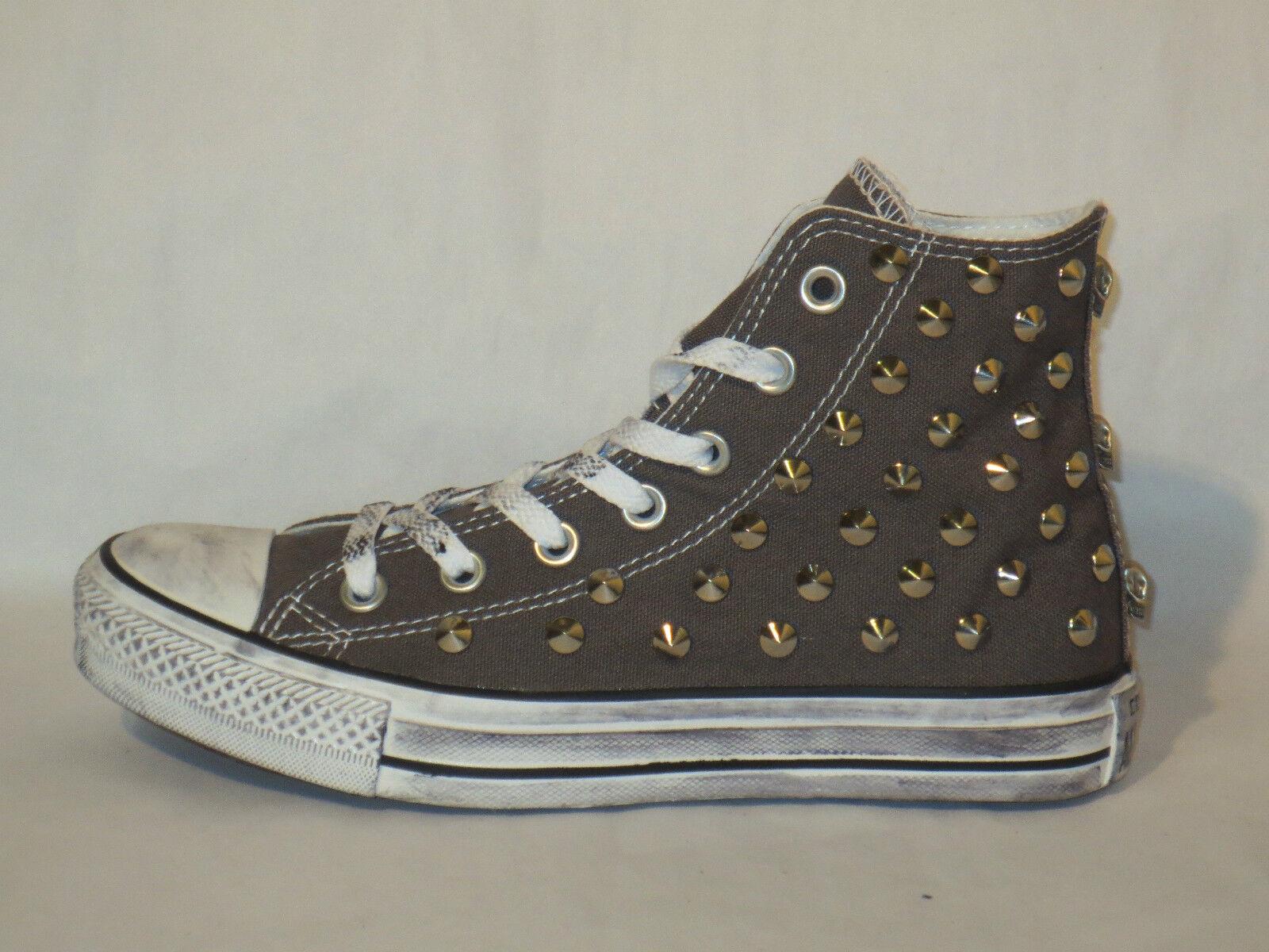 Converse all scarpe star Hi borchie teschi scarpe all donna uomo sneaker artigianali 2a8d42