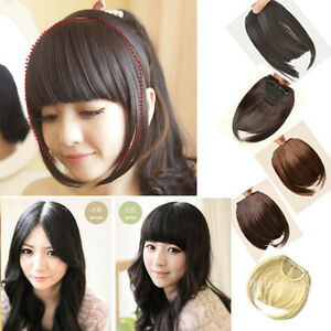 Best love piece fringe bangs straight clip in on hair extensions image is loading best love piece fringe bangs straight clip in pmusecretfo Images