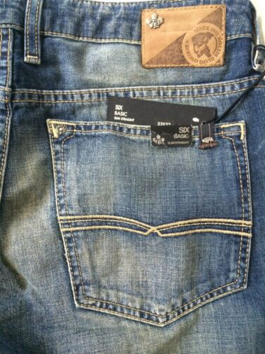 Buffalo David Bitton SIX-Slim Straight Leg Jeans Vintage /& Worn Wash BM16061