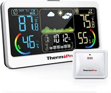 Thermopro Tp68b 500ft Weather Station Thermometer Indoor Outdoor Hygrometer Digi