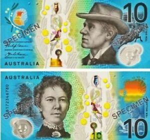 Special-AUSTRALIAN-10-ten-Dollar-2017-new-UNC-Banknotes-Limited-AB-prefix
