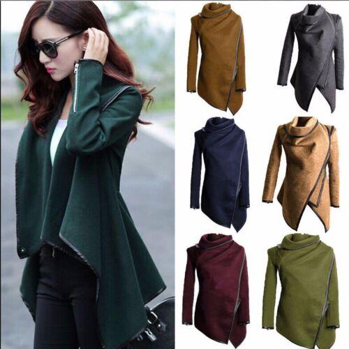 Fashion Women/'s Warm WOOL Slim Long Coat Jacket Trench Windbreaker Parka Outwear