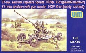 37MM-ANTI-AIRCRAFT-GUN-MODEL-1939-K-61-EARLY-PROD-1-48-UNIMODEL-UM-516