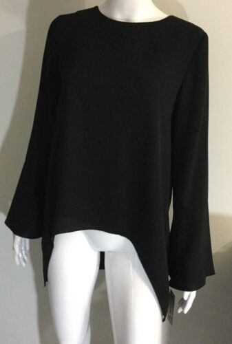 Sleeve New Size Cremieux Blouse Top Women's Xs Bell Black azgwxIqRz