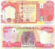25000 NEW IRAQI DINARS 2014 WITH NEW SECURITY FEATURES IQD-UNC