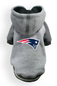 New-England-Patriots-NFL-Little-Earth-Production-Dog-Pet-Crewneck-Gray-Hoodie