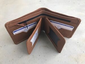 Men Wallet Brown Handmade Genuine Supreme Leather BiFold Cards Holder Men Purse