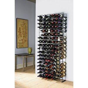 144 Bar Bottle Wine Rack Holder Modular Metal Shelf Shelves Stand Liquor Storage