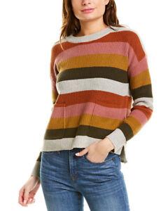 Madewell-High-Low-Sweater-Women-039-s-Grey-S