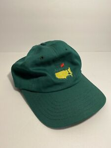 Vtg-American-Needle-The-Masters-Golf-Adjustable-Leather-Strap-Back-Hat-Green