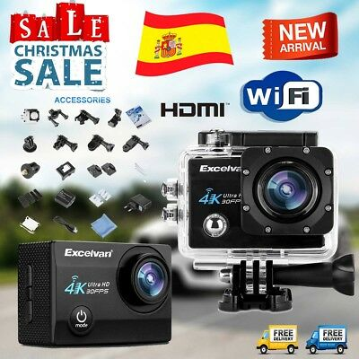 Excelvan Q8 WiFi 4K Acción Cámara Vídeo Full HD 16MP Deportiva DV Impermeable