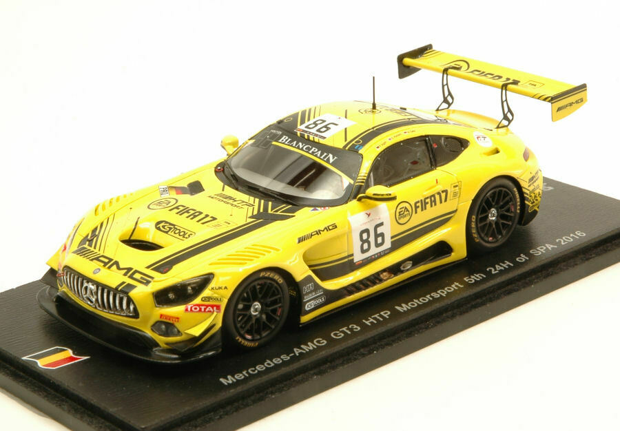 Mercedes gt3 n.86 5th 24 h spa 2016 jager-paffet-gotz 1 43 auto competizione