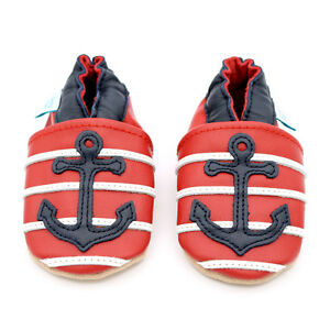 Dotty-Fish-Soft-Leather-Baby-amp-Toddler-Shoes-Anchor-0-6-Months-2-3-Years