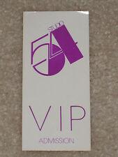 STUDIO 54 ORIGINAL VIP ADMISSION PASS 1980's
