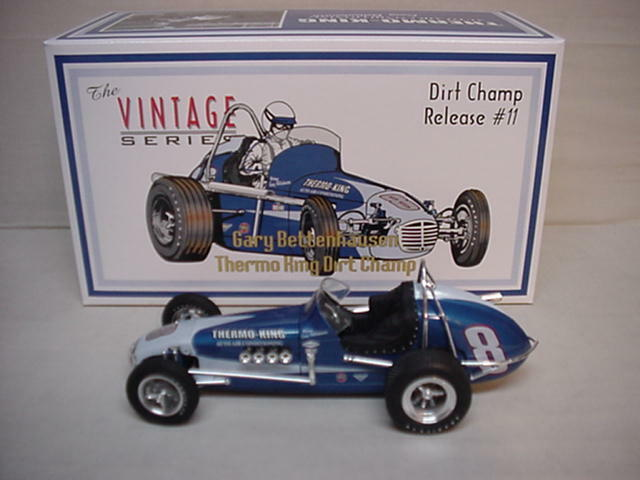 BETTENHAUSEN GARY THERMO-KING '60's INDY METAL OFFY VINTAGE DIRT CHAMP 1/18 GMP