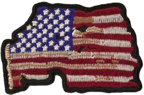 Flicken Wappen Flagge US Destroy Schmelzbar Flicken USA Bestickt