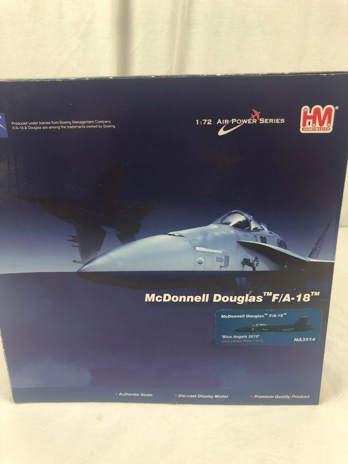 Hobby Master HA3514 F/A-18 Azul Angels 2018 USN Diecast 172 Nuevo