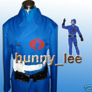 Cobra Commander Cosplay Costume+Red Cape+Buckle Custom-Made