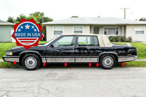 1989-1990-Cadillac-DeVille-4Dr-Sedan-Chrome-Rocker-Panel-Trim-Body-Side-FL-7-034