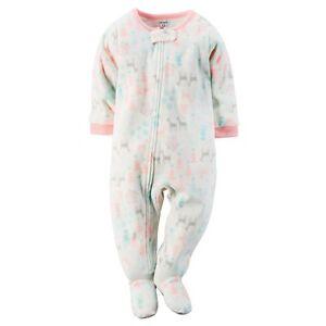 5762779b3960 Carter s NWT 24M 3T 4T 5T Winter Girl Fleece PJ Footed Pajama ...