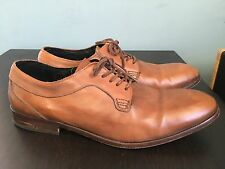 HUDSON mens shoes, brown leather, handmade in Portugal size 44