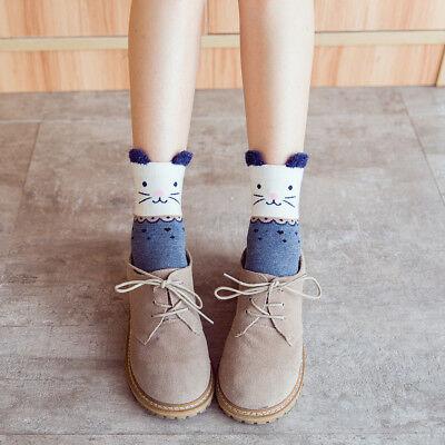 Frauen-Baumwollpopulärer Punkt-Entwurfs-Socken-Herbst-Winter-warme Socken Neu