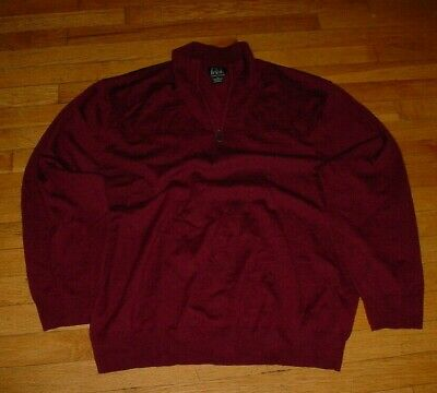 JoS A BANK Signature Collection Sweater Vest 100/% Merino Wool Red Mens Size XXL