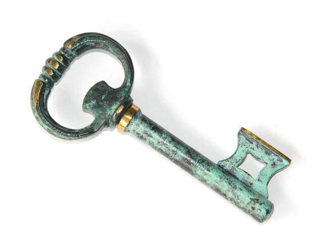 VTG Old Rustic Key Wine Cork Opener Decorative Corkscrew Antique Key Design