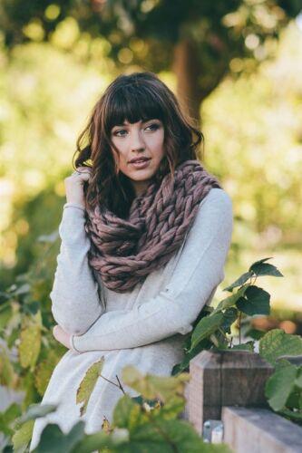 Chunky Twist Infinity knit Scarf