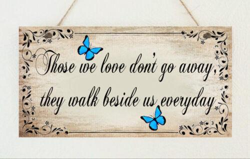 Beau fait main plaque Memorial Bereavement Papillons Love Cadeau Signe