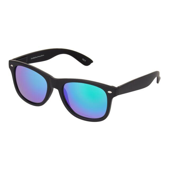 Adults Black Sunglasses Purple Dawn Lens Mens Womens UV400 Retro Classic Glasses