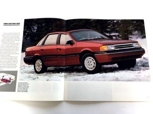 1991 Ford Tempo 16-page Original Car Sales Brochure Catalog