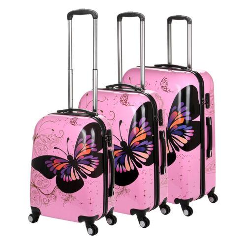 Coque rigide 4 roues spinner valise pc chariot bagage cabine étui main papillon
