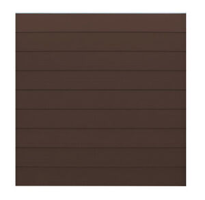 Wpc Zaun Bretter Sichtschutz Lamellenzaun Gartenzaun Chocolate Braun