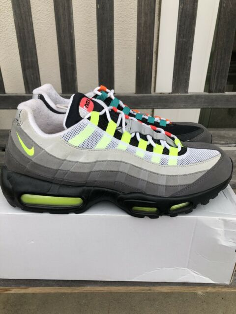 Nike Air Max 95 OG QS Greedy NEON red orange size 10.5 Federer RF What The 2015
