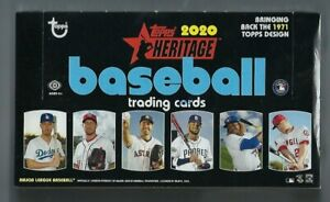 2020 托普斯 Heritage 棒球卡工廠原封 Hobby 盒 24 包/盒