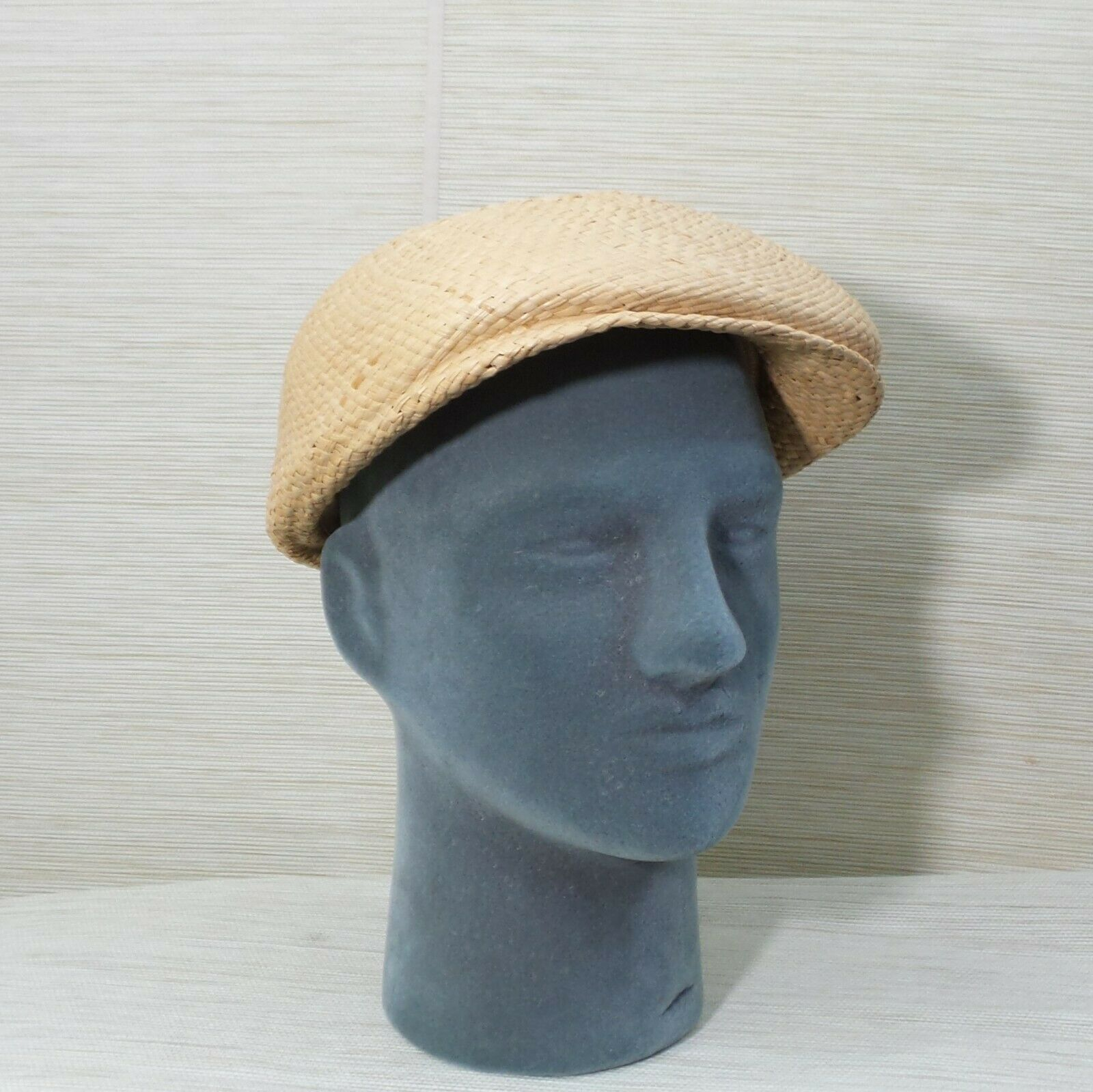 Straw Cabbie Hat Cap Union Made Natural Newsboy M… - image 2